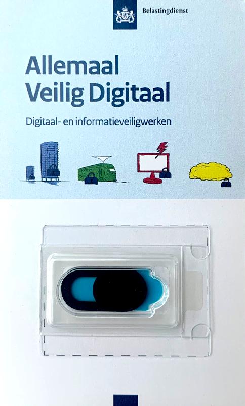 Webcamcover verpakking met logo bedrukt