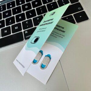 Duurzame webcamcover met verpakking